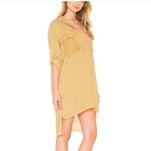 Faithfull The Brand Baia Striped Shirt Dress